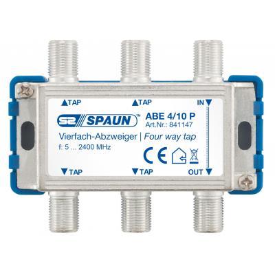Spaun ABE 4/10 P Kabel splitter of combiner - Blauw, Zilver