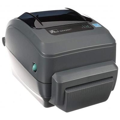 Zebra GX420t TT - USB - Ethernet - Snijsysteem Labelprinter - Grijs