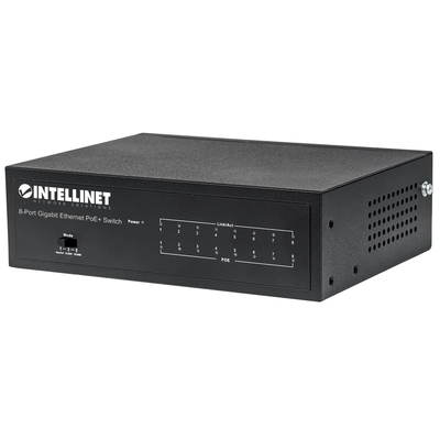Intellinet 8-Port Gigabit Ethernet PoE+, IEEE 802.3at/af Power over Ethernet (PoE+/PoE) Compliant, 60 W, .....