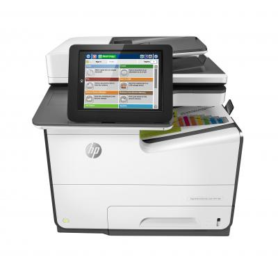 HP multifunctional: PageWide Enterprise Color 586f - Zwart, Wit