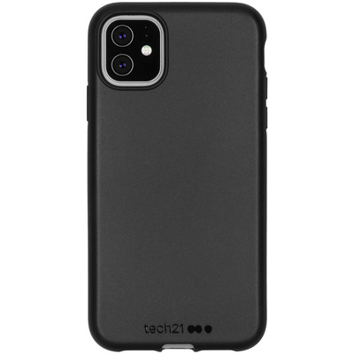 Antimicrobial Backcover iPhone 11 - Black - Zwart / Black Mobile phone case