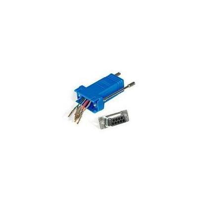 C2G RJ45/DB9F Modular Adapter Kabel adapter - Blauw