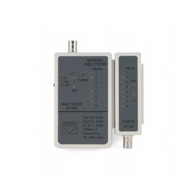 Cablexpert netwerkkabel tester: Cable tester for RJ-45/RG-58 cables - Wit