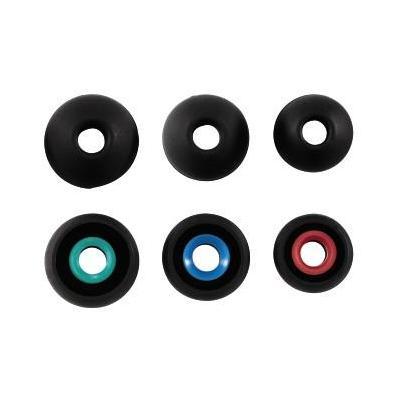 Hama koptelefoonkussen: Silicone Replacement Ear Pads, S/M/L, 6 pcs, Black - Zwart