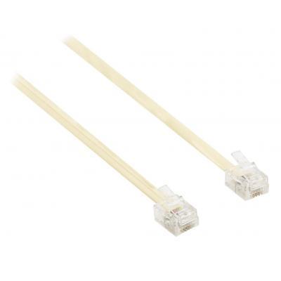 Valueline telefoon kabel: RJ11 - RJ11, 10m - Ivoor