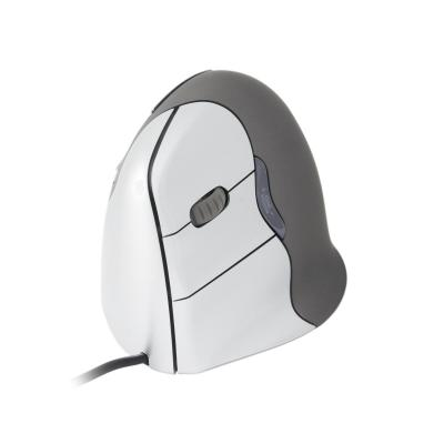 R-go tools computermuis: VerticalMouse 4 USB - Medium/Large - Linkshandig - Grijs