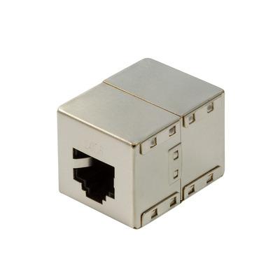 LogiLink 2x RJ45, 1:1 pin, 32.3 x 25 x 23 mm, PoE, PoE+, PoE++ Kabel adapter - Grijs