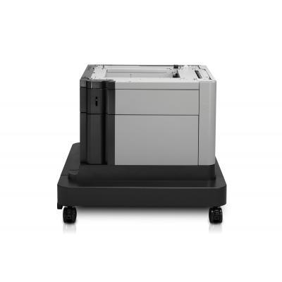 Hp printerkast: LaserJet 1x500-sheet papierinvoer met kast - Zwart, Grijs
