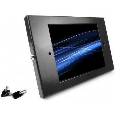 Maclocks : iPad Enclosure Wall Mount w/ Security iPad Lock, f/ Apple iPad 2/3/4, Black - Zwart