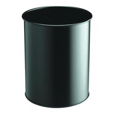 Durable prullenbak: Waste basket metal round 15 - Zwart