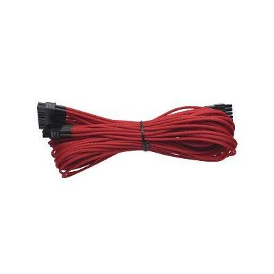 Corsair electriciteitssnoer: Generation 2 Sleeved 24 Pin Cable (AX) - Red - Zwart, Rood