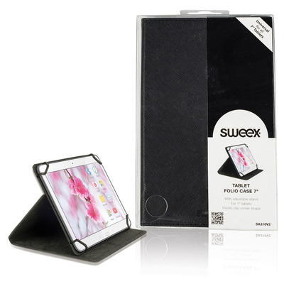 "Sweex Tablet Folio Case 7"" Black Tablet case"
