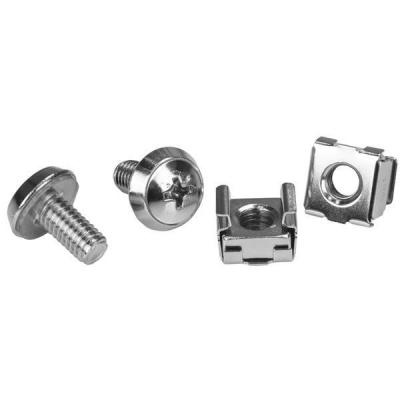 Startech.com schroef en bout: M6 Rack Screws and M6 Cage Nuts - 20 Pack - Zilver