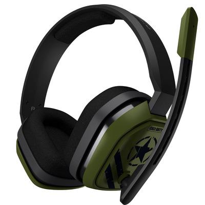 Logitech A 10 Headset - Zwart, Olijf