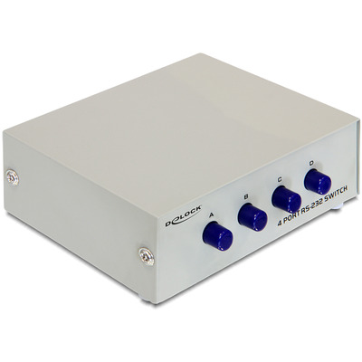 DeLOCK Serial RS-232 4-port manual Switch - Grijs