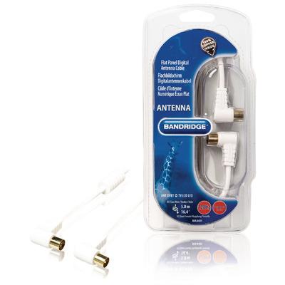 Bandridge BVL8405 Coax kabel - Wit