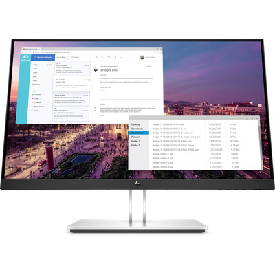 HP EliteDisplay E23 G4 FHD Monitor - Zwart,Zilver