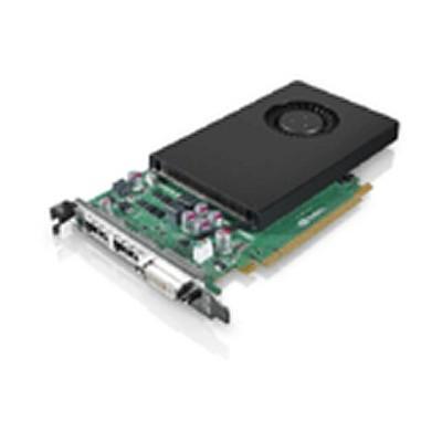 Lenovo videokaart: nVidia Quadro K2000 2GB Graphics Card by, 2x DisplayPort, Dual Link DVI-I - Zwart, Zilver