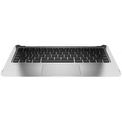 Hp Top Cover & Keyboard (Dutch) notebook reserve-onderdeel - Zwart, Zilver