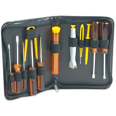 Manhattan Basic Computer Tool Kit, Computer Tool Kit, 13 pieces Stopcontact & gereedschapset - Zwart