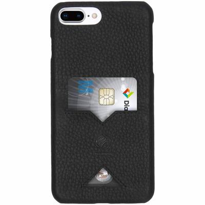 Leather Backcover iPhone 8 Plus / 7 Plus - Zwart / Black Mobile phone case