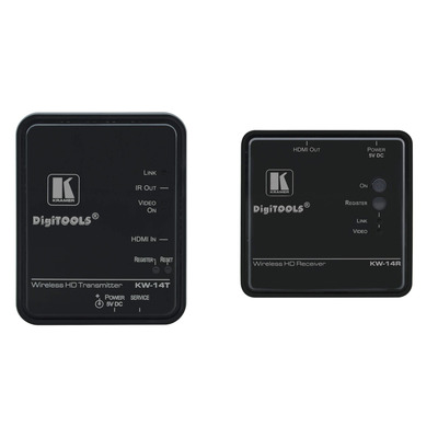 Kramer Electronics 1920x1080px, 30m, 6.75 Gbit/s, 5V, 1A, Plastic, Black AV extender - Zwart