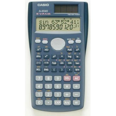 Casio calculator: FX-85MS - LCD, 240 functions - Blauw