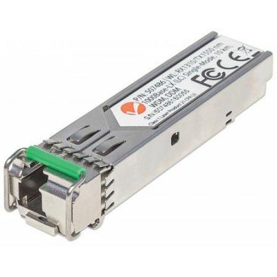 Intellinet netwerk tranceiver module: Gigabit Fiber WDM Bi-Directional SFP Optical Transceiver Module - Metallic