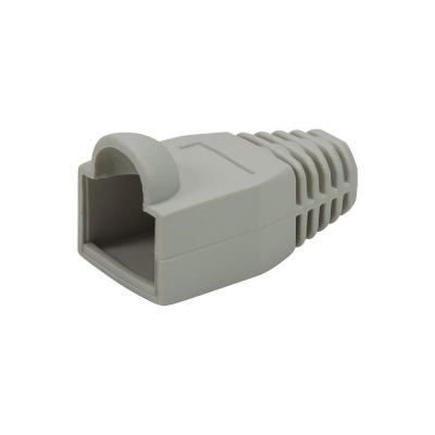 LogiLink Strain relief boot 6.5 mm for RJ45 plugs, 50 pcs, grey Kabelbeschermer - Grijs