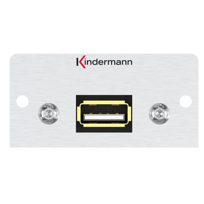 Kindermann 7444000522 Wandcontactdoos - Aluminium