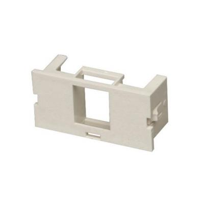 Black box : Surface-Mount Housing Adapter Bezel 1-Port Office White - Wit