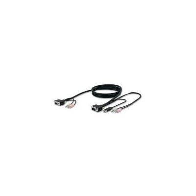 Belkin KVM kabel: Vervangende SOHO KVM-kabelset, VGA & USB, 4,5 m - Zwart