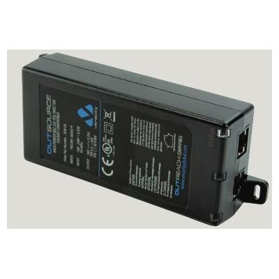 Veracity PoE adapter: Outsource Plus Midspan 25/30W PoE Plus 802,3at inj.- 1 port - Zwart