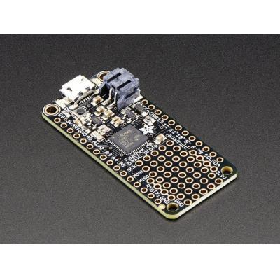 Adafruit : ATSAMD21G18 48MHz, 256KB flash, 32KB RAM, USB, 6x 12-bit, 1x 10-bit analog in, 51x23x8 mm