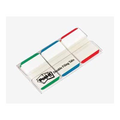 Post-it indextab: Index Filing tabs 3 x 22 tabs, rood, blauw en groen kenmerken
