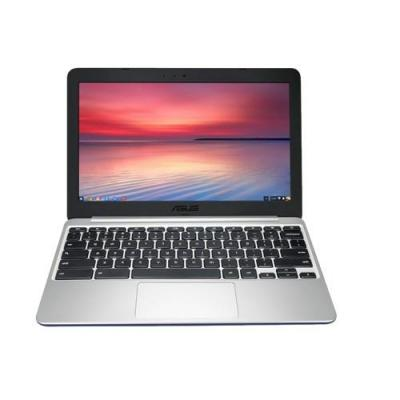 Asus laptop: Chromebook C201PA-FD0009 - Navy, Zilver