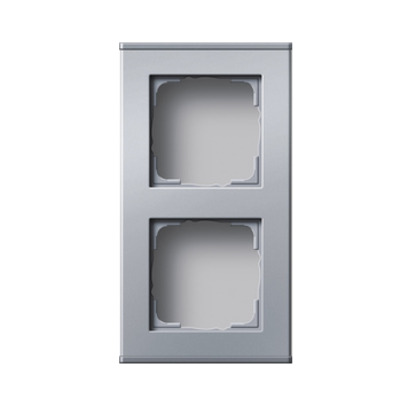 GIRA Profiel 55 voor verticale en horizontale installatie tweevoudig - Aluminium