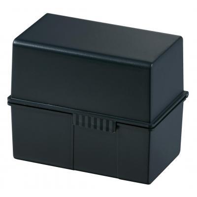 Han kaartenbak: 300 x A7, 121 x 101 x 74 mm, 3 pcs, black - Zwart