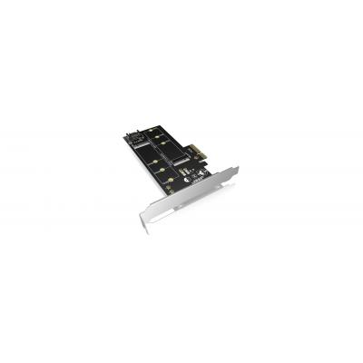 ICY BOX IB-PCI209 Interfaceadapter - Zwart