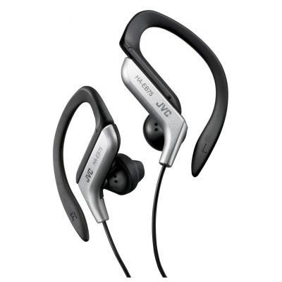 Jvc koptelefoon: Ear clip sporthoofdtelefoon zilver-zwart - Zwart, Zilver