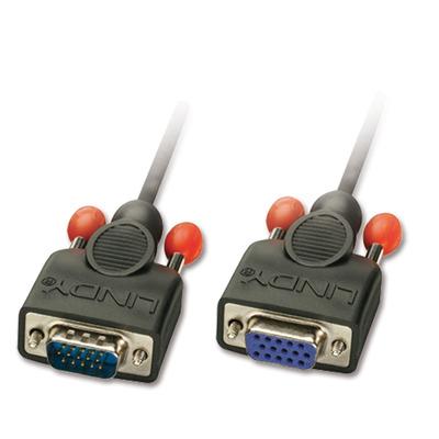 Lindy 1m HD15 VGA kabel  - Zwart