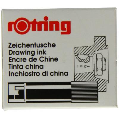 Rotring inkt: Drawing Ink Black, 5 Cartridges