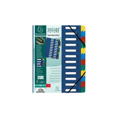Exacompta indextab: Harmonika Nature Future, 24 vakken, blauw - Blauw, Veelkleurig