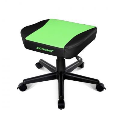 AKRacing voetsteun: PU leather, Green/Black - Zwart, Groen