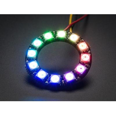 Adafruit : NeoPixel Ring - 12 x 5050 RGB LED with Integrated Drivers