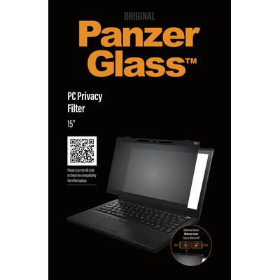 "PanzerGlass Dual PC privacy 15"" Edge-to-Edge Privacy CamSlider Schermfilter - Transparant"