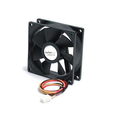 StarTech.com 80x25mm Stille Ventilator voor Computerbehuizing met Kogellagers en TX3 Connector Hardware .....