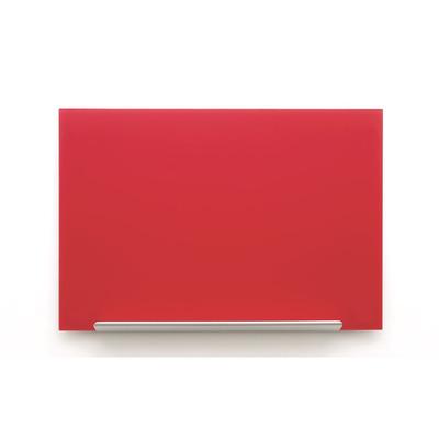 Nobo whiteboard: Diamond Glasbord (993x559) rood, magnetisch