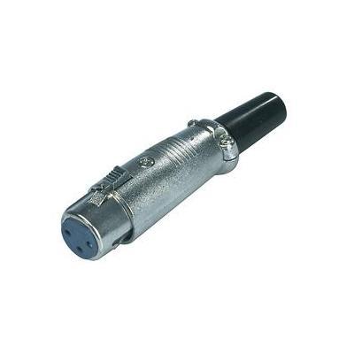 Valueline kabel connector: XLR Plug with Clamp - Zwart, Zilver