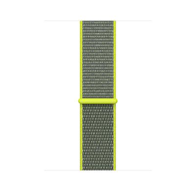 Apple : Geweven sportbandje - Neongeel (42 mm) - Grijs, Limoen